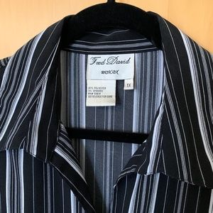 Fred David Tops - Fred David Woman Button up Blouse 1X